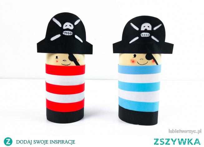 Tutorial ukazujący sposób wykonania pirata, dla chłopca, z rolki po papierze toaletowym ;)