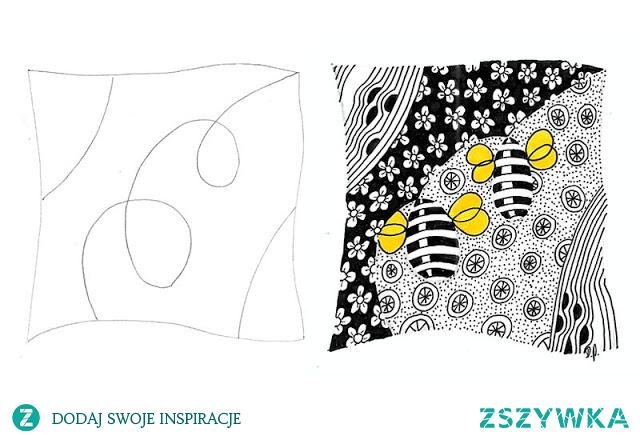 Struny (strings) w Zentangle - przykłady do pobrania
