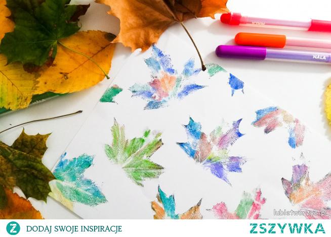 Tutorial ukazujący sposób stemplowania liści z użyciem pisaków ;)