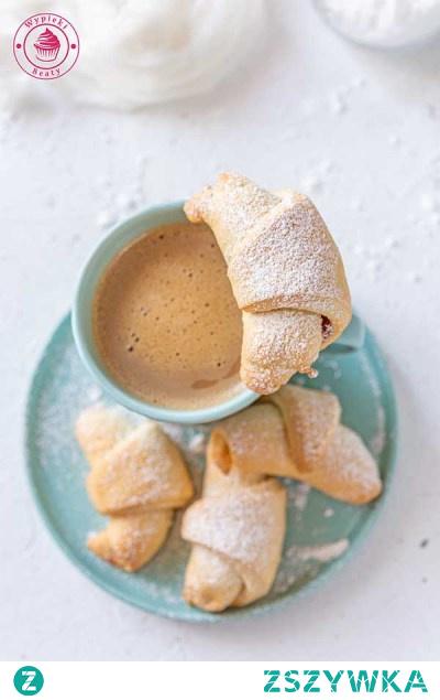 Rogaliki krucho-drożdżowe z marmoladą - Najlepsze przepisy | Blog kulinarny - Wypieki Beaty