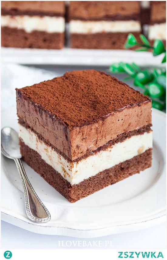 Ciasto chałwowe z czekoladą