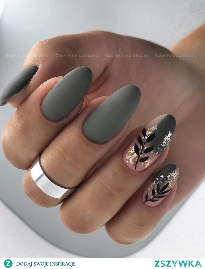 Kolejna z jesiennych inspiracji, tym razem manicure