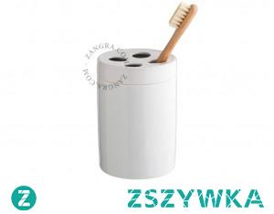 Jakie akcesoria porcelanowe wybrać do swojej łazienki? Na przykład minimalistyczny kubek, który posłuży jako idealne miejsce do przechowywania szczoteczki!