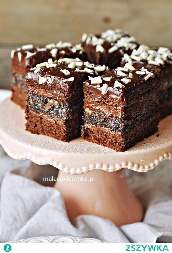 Ciasto EUFORIA czekoladowe z makiem i krówką. Przepis po kliknięciu w zdjęcie.