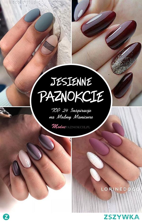 Jesienne Paznokcie – TOP 24 Inspiracje na Modny Manicure