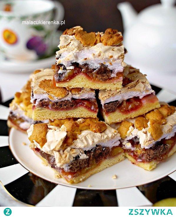Proste Ciasto PLEŚNIAK ze śliwkami. Przepis po kliknięciu w zdjęcie. #ciasto #pleśniak