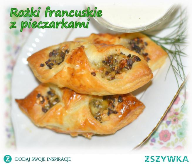 Rożki francuskie z pieczarkami