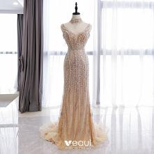 Wysokiej Klasy Złote Sukien...