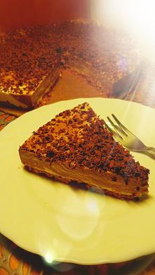 Sernik czekoladowy na zimno, bez pieczenia! :)   #pycha #deser #sernik #czekolada