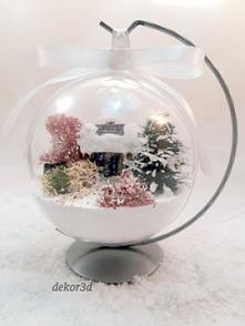 Bombka3d, dekoracja przestrzenna. Miniaturowy, zimowy świat zamknięty w kuli. Nowość na Allegro :)