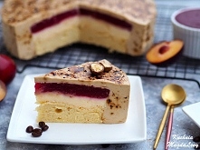 Ciasto serowo-kawowe z musem śliwkowym