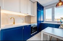#kuchnia #kobaltowefronty #...