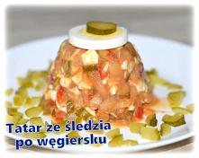 Tatar ze śledzia po węgiersku