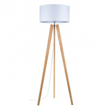 Elegancka i stylowa drewniana dębowa lampa stojąca Lotta Britop Lighting - dąb olejowany z białym abażurem. Ta dębowa drewniana lampa podłogowa stojąca Lotta występuje w różnych...