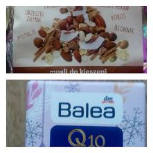 8 grudnia *** W kalendarzu z jedzeniem było musli z orzechami w kosmetycznym krem na noc z koenzymem Q10. #kalendarz #adwentowy