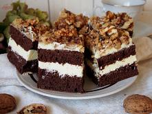 Czekoladowe ciasto z kremem...