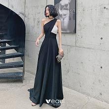Moda Czarne Sukienki Wieczo...
