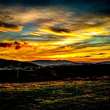 Ten piękny zachód słońca zw...