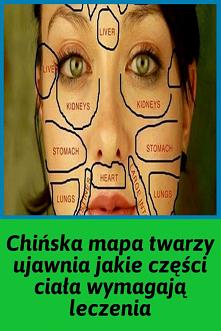 Chińska mapa twarzy ujawnia...