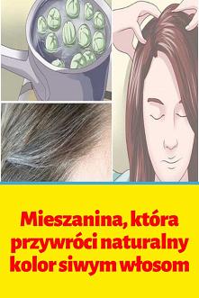 Mieszanina, która przywróci naturalny kolor siwym włosom
