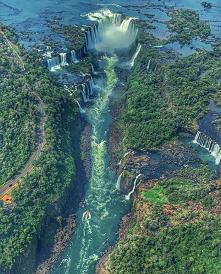 Wodospad Iguazú na granicy ...