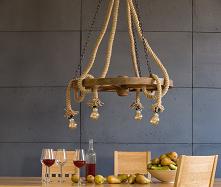 rustykalna lampa sznurowa n...