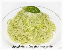Spaghetti z bazyliowym pesto