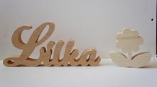napisy z litego drewna, ręc...