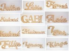 imiona z litego drewna