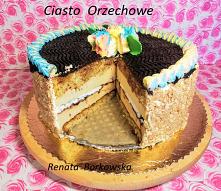 Ciasto   orzechowe  z  masą...