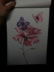 Kwiat i motylki