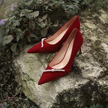 Eleganckie Czerwone Perła Z...