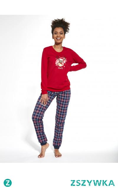 Damska piżama świąteczna od Cornette. Sprawdź ją w sklepie producenta.