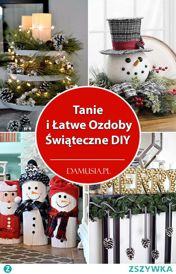 Tanie i Łatwe Ozdoby Świąteczne DIY