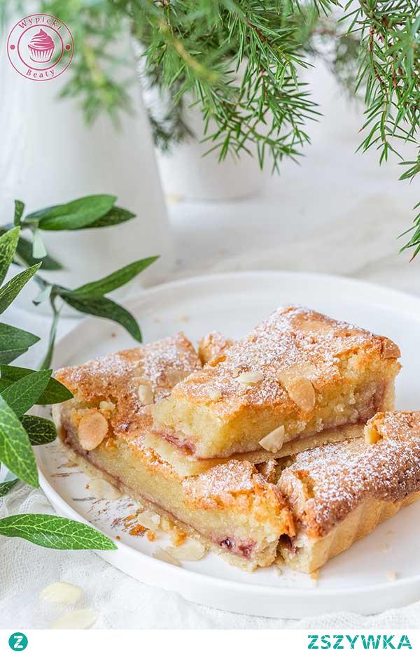 Malinowa tarta bakewell - Najlepsze przepisy | Blog kulinarny - Wypieki Beaty