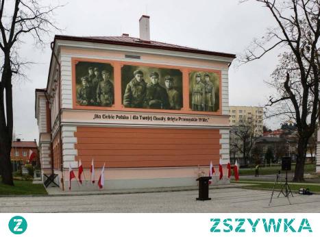 Mural upamiętniający Orlęta Przemyskie 1918r., na budynku koszarowym 5 Brygady Strzelców Podhalańskich w Przemyślu. #5BSP #orletaprzemyskie