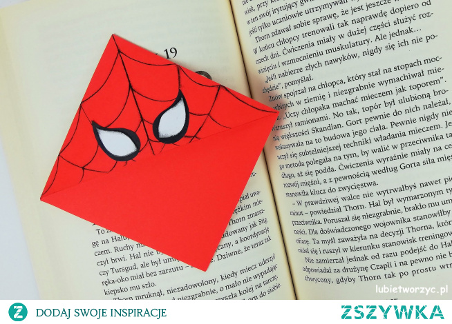 Tutorial ukazujący sposób wykonania zakładki do książki z motywem Spider - Mana ;)
