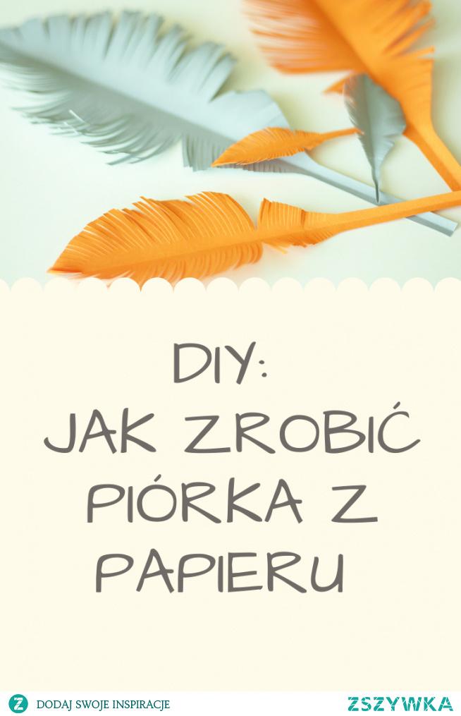Jak zrobić piórka z papieru? Link do tutorialu w komentarzu