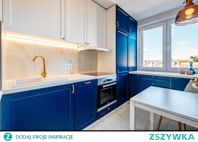 #kuchnia #kobaltowefronty #bialoniebieska