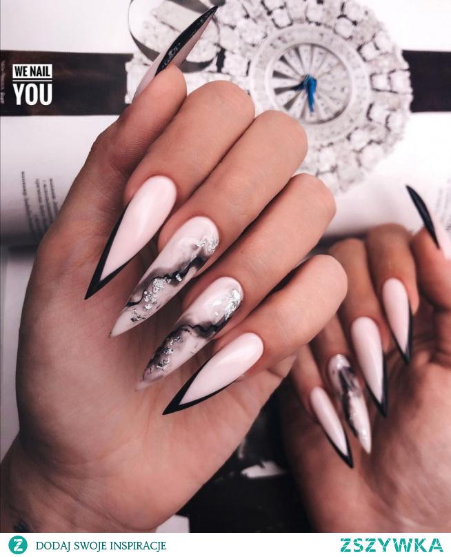 Paznokcie #nails #hybryda #wzorki