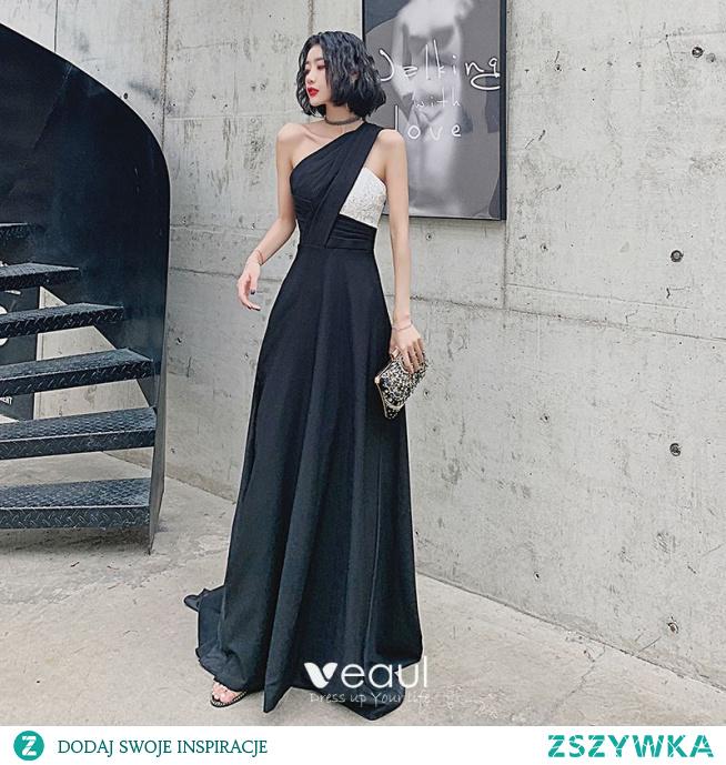 Moda Czarne Sukienki Wieczorowe 2021