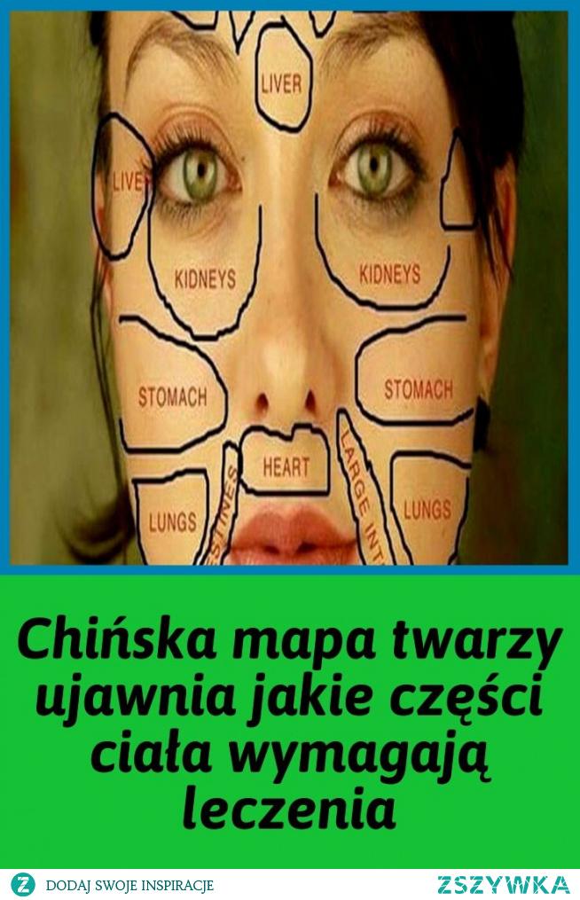 Chińska mapa twarzy ujawnia jakie części ciała wymagają leczenia