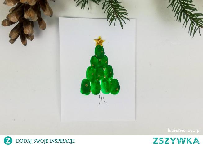 Tutorial ukazujący sposób wykonania kartek świątecznych użyciem farb i palców ;)