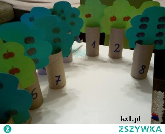 Matematyczne drzewka - papierowa zabawka dla dzieci do zrobienia samodzielnie.