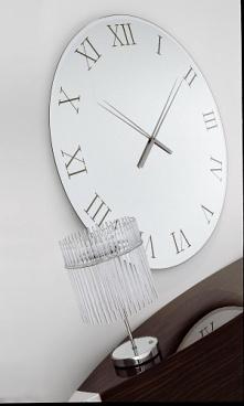 Zegar wykonany z lustra akrylowego o średnicy 50 cm