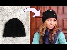 DIY czapka z perełkami