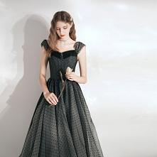 Eleganckie Czarne Spleciona...
