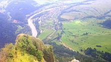 Widok na Dunajec z Trzech Koron.