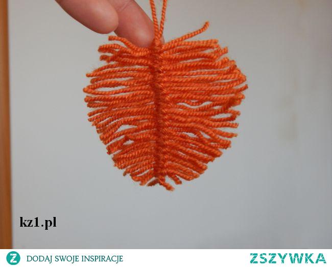 Jak zrobić liście z włóczki lub z wełny.