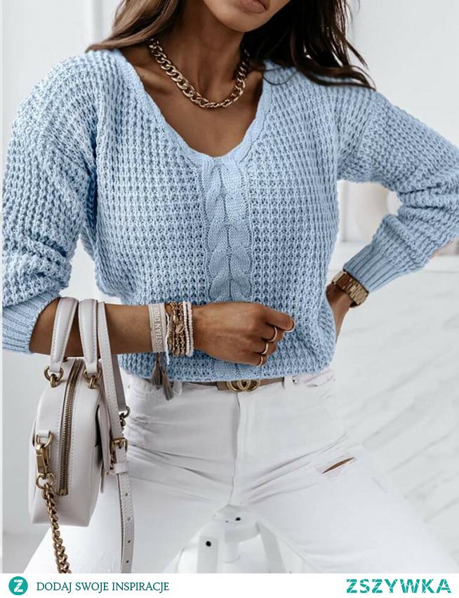 #sweterek#niebieski #łancuchy